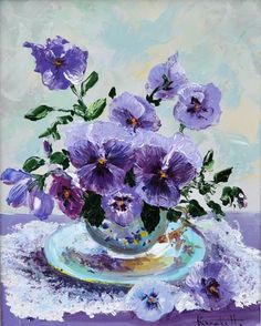 A painting of pansies.  It's on Tumblr, and there's no source or artist given.