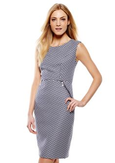 ideeli | JONES NEW YORK Jacquard Zipper Sheath Dress