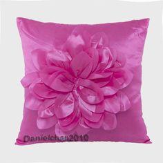 1pc New Ribbon Raised Big Handmade Lotus Decor Throw Pillow Cushion Covers Rose | eBay