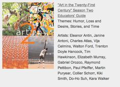 Art21: Using Contemporary Art Resources in Your Classroom   The Art of Ed