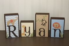 Personalized wood blocks with any name or by personalizedblocks, $6.00