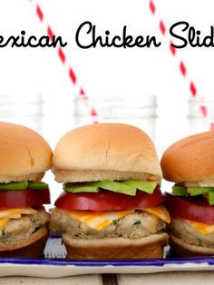 These kid-friendly Mexican Chicken Sliders from Weelicious are made with juicy ground chicken and infused with south of the border flavors like fresh cilantro, cumin, garlic and onion Baby Food Recipes, Mexican Food Recipes, Cooking Recipes, Ethnic Recipes, Toddler Recipes, Chicken Recipes, Fun Recipes, Party Recipes, Burger Recipes