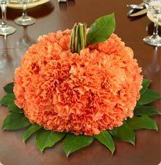 Holiday Centerpiece Flower Pumpkin Centerpiece #happyholidays
