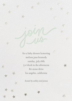Starry Bash by Sugar Paper for Paperless Post. Design custom baby shower and sip and see invitations with easy-to-use design tools and RSVP tracking. View other baby shower invitations on paperlesspost.com