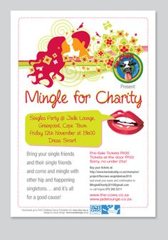 'Mingle for Charity' Event Flyer