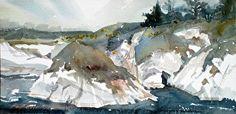 "Point Lobos by Kristi Grussendorf Watercolor ~ 6"" x 12"""