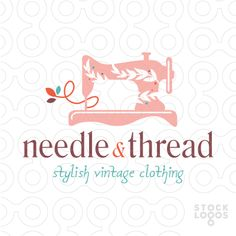Needle and Thread Vintage Sewing Machine