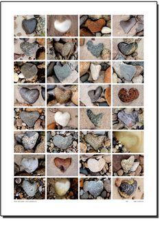 Heart shaped rocks.