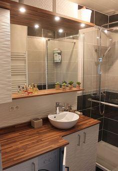 Une salle de bains esthétique avec une machine à laver le linge, c'est possible ! Exemple avec ce meuble sur-mesure ... Lire la suite >
