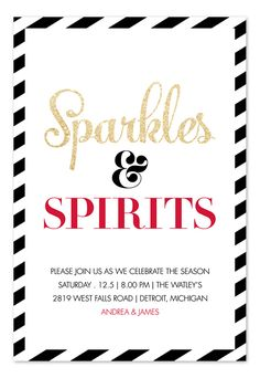 sparkles and spirits by invitation consultants stripes glitter for holiday party
