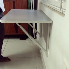 Study Table Designs, Office Table Design, Study Room Design, Home Room Design, Diy Study Table, Wall Table Diy, Folding Study Table, Folding Kitchen Table, Small Study Table