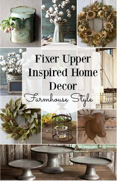 Farmhouse Style Home Decor inspired by Fixer Upper! Everything you need to add a little farmhouse swag to your house! - Our Home Decor Diy Home Decor Rustic, Country Decor, Farmhouse Chic, Farmhouse Design, Farmhouse Ideas, Fixer Upper Dekoration, Fixer Upper Decor, Deco Champetre, Interior Design Minimalist