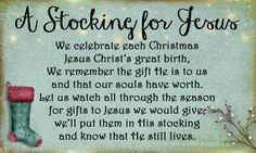 A Stocking For Jesus- A New Tradition to Bring Christ Back to Christmas - Rachael's BookNook Christmas Traditions, Christmas Activities, 12 Days Of Christmas, Happy Birthday Jesus, Christmas Holidays, Christmas Time, Christmas Jesus, Christmas, Christmas Poems