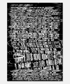 Rubén Montero and his literary-inspired, glitchy typographic work