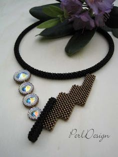 Dual - PerlDesign Seed Bead Necklace, Beaded Necklace, Beaded Bracelets, Beadwork Designs, Jewelry Making Tutorials, Beaded Embroidery, Bead Weaving, Beaded Jewelry, Etsy