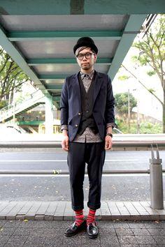 Area1:Shibuya,Tokyo(渋谷,東京) Name:ワタナベ Occupation:KESHIKI staff Jacket:KESHIKI Shirt:KESHIKI Trousers:KESHIKI Shoes:KESHIKI Hat:Used Comments for radar:KESHIKI、KESHIKI classic、KESHIKI worksでお待ちしております。