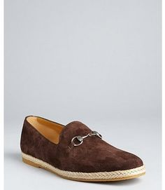Gucci Cocoa Suede Loafers in Chocolate Brown- $384  www.bluefly.com