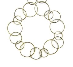 40 Premium Antique Brass Bronze Round Loop by FancyGemsandFindings, $15.00
