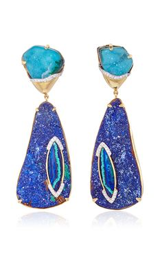 Petra One of a Kind Inset Earrings by Kara Ross for Preorder on Moda Operandi