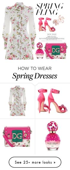 """""""Spring Time"""" by ell-dee on Polyvore featuring Dolce&Gabbana, Alexander McQueen, Zimmermann, Marc Jacobs and springdresses"""