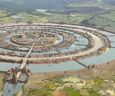 Resembles ancient Aztec city of Tenochtitlan on Lake Texacoco_ArtStation - Atlantis, Rocío Espín Piñar Fantasy City Map, Fantasy Places, Sci Fi Fantasy, Fantasy World, Atlantis, Environment Concept Art, Environment Design, Art Et Illustration, Fantasy Setting