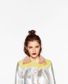 Image 2 de VESTE EN CUIR RÉVERSIBLE de Zara