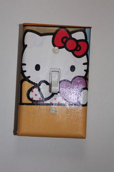 Hello Kitty Light Switch Cover Plate teen girls room home decor pink