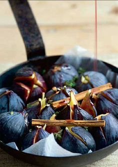 Baked figs with honey and cardamom   River Cottage Baking recipes: buns and puddings - Telegraph