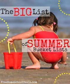 summer bucket lists