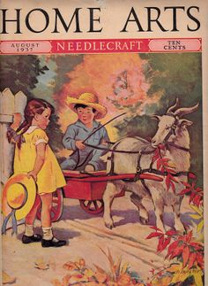 c1937  Cover art from some old, slightly musty magazines I received. Mostly includes sewing and needlepoint instruction, some cooking, some housecleaning. Great color for over 70 year old magazines.
