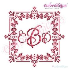 Deco Font Frame 4 - 8 Sizes! | Modern Designs | Machine Embroidery Designs | SWAKembroidery.com