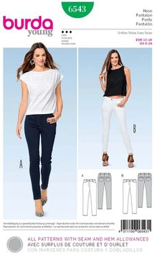 Burda Ladies Sewing Pattern 6769 Straight Fitted Skirts Burda-6769