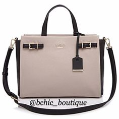 """Brand New Kate Spade Holden St Satchel Brand new with dust bag  SIZE 13.8""""h x 12.5""""w x 5.1""""d drop length: 5.1"""" alternate strap drop length: 16.5"""" MATERIAL tight pebbled leather with matching trim 14 karat gold plated hardware colorblock plaid printed on faille lining  DETAILS satchel with optional shoulder strap and zip top closure zipper pocket and double slide pockets gold plated metal kate spade new york signature No Trades kate spade Bags Satchels"""