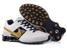eea68ab91b2 Men s Nike Shox OZ Shoes White Black Silver Golden New Release