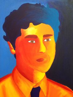 Fauvism self-portrait (painted)