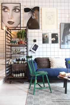 Right in front of the School of Architecture in Stockholm you will find the shop of Lotta Agaton, a well-known interior designer from Stockholm. She not only sells the finest designer stuff in here, but she's also working there on new projects.