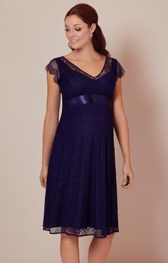 Kristin Lace Maternity Dress Indigo Blue - Maternity Wedding Dresses, Evening Wear and Party Clothes by Tiffany Rose AU Maternity Gowns, Maternity Fashion, Maternity Wedding, Tiffany Rose, Winter Outfits, Boho Outfits, Pregnancy Fashion Winter, Bleu Indigo, Rent Dresses
