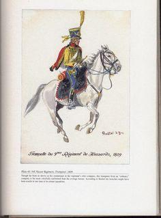 Hussars: Plate 40: 9th Hussar Regiment, Trumpeter, 1809.