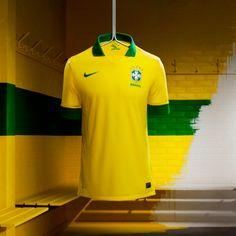 on sale 32952 7b6dd Brazil shirt Football Brazil, Nike Football, Football Boots, Football  Shirts, Sports Shirts