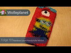 Rainbow Loom Handyhülle Minion mit Loom - YouTube