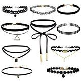 #10: Paxcoo 10 Pieces Choker Necklace for Women Girls Black Classic Velvet Stretch Gothic Tattoo Lace http://ift.tt/2cmJ2tB https://youtu.be/3A2NV6jAuzc