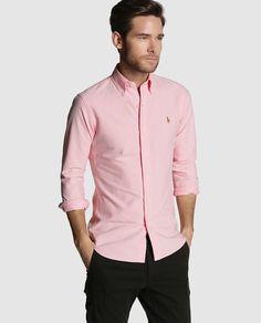 Camisa de hombre Polo Ralph Lauren slim lisa rosa · Polo Ralph Lauren ·  Moda ·