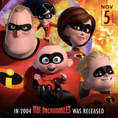 Happy Anniversary to The Incredibles! Disney Dream, Disney Love, Disney Magic, Walt Disney, Disney Movie Posters, Disney Cartoons, Disney Characters, Disney Facts, Disney Quotes