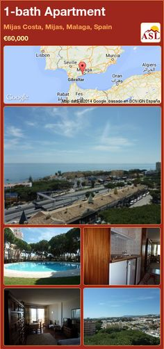 1-bath Apartment in Mijas Costa, Mijas, Malaga, Spain ►€60,000 #PropertyForSaleInSpain