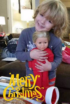 I love this picture Melissa. That smile on Christmas morning says it all! Warms our hearts here at MSD. And they're the blonde duo! #americangirl #dolls #toys
