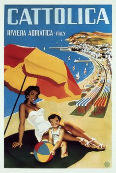Nino Gregori, Parenzo Travel Ads, New Travel, Italy Travel, Vintage Italian Posters, Vintage Travel Posters, Poster Vintage, Poster City, Poster On, Vintage Italy