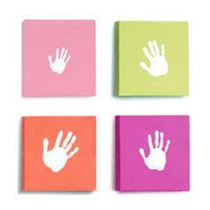 Pop Art Canvas Baby Handprint Set in Pink
