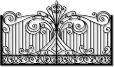 iron gate - find four and frame them; hang them in a group on the wall House Gate Design, Door Gate Design, Railing Design, Wrought Iron Gate Designs, Wrought Iron Gates, Metal Drawing, Metal Art, Custom Gates, Metal Gates