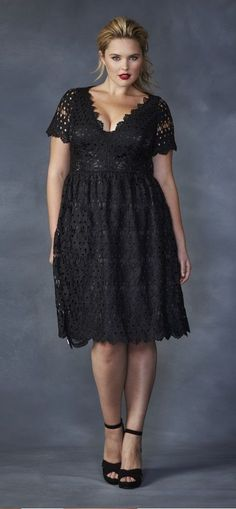 Love!!!  Plus Size Low-cut Crochet Dress