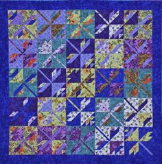 On the Fly baby quilt!  Too much of a challenge for me, but not for you quiltmasters!